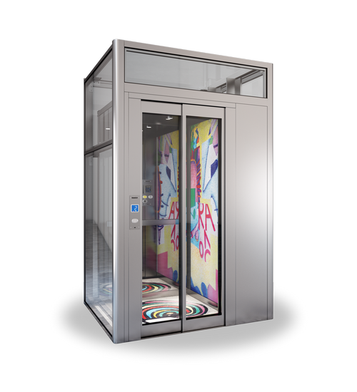 Decorative design for residential elevator i domuslift for Small elevator for home price