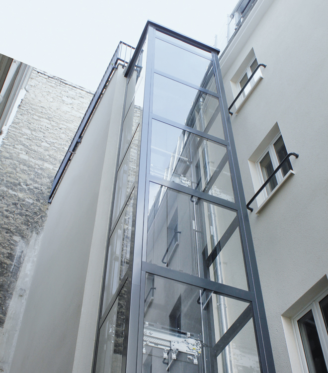 indoor and outdoor residential elevators