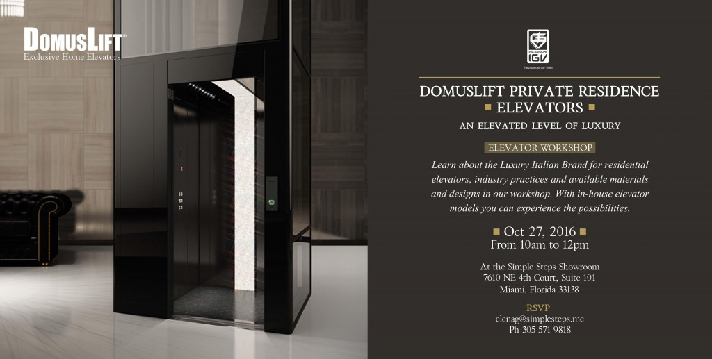 News & events: DomusLift Workshop in Miami