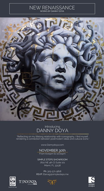 Exhibit of the wonderful work of Danny Doya for Art Basel